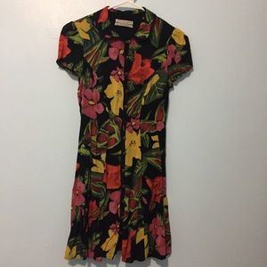 Urban Outfitters Floral Print Black Dress